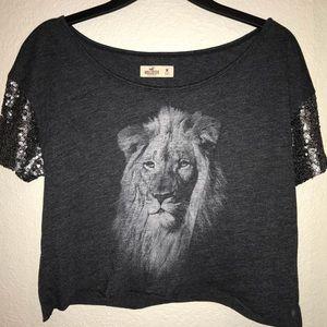 Cute lion crop top